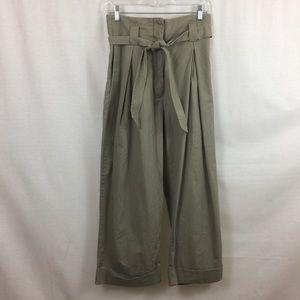 H&M Cotton Pants with belt size 8